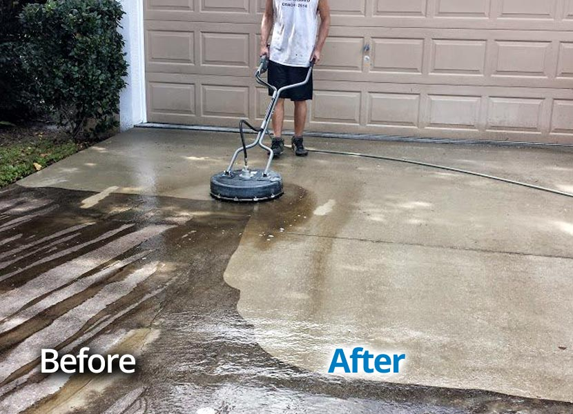Seminole county fl house soft washing pressure washing for Cement cleaning products